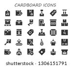 cardboard icon set. 30 filled... | Shutterstock .eps vector #1306151791