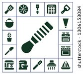 kitchenware icon set. 17 filled ... | Shutterstock .eps vector #1306153084