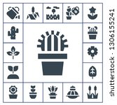 flora icon set. 17 filled flora ... | Shutterstock .eps vector #1306155241