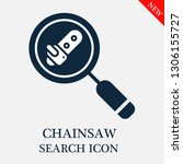 search chainsaw icon. editable... | Shutterstock .eps vector #1306155727