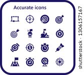 accurate icon set. 16 filled...   Shutterstock .eps vector #1306157167