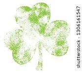 grunge clover shamrock leaf...   Shutterstock .eps vector #1306161547
