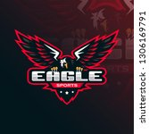 eagle vector mascot logo design ... | Shutterstock .eps vector #1306169791