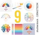 set 8 universal templates... | Shutterstock .eps vector #1306173154