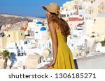 Attractive Tanned Woman In Oia...