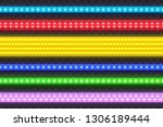 realistic seamless led colorful ... | Shutterstock .eps vector #1306189444