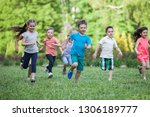 a group of happy children of... | Shutterstock . vector #1306189777