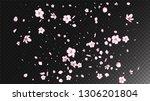 nice sakura blossom isolated... | Shutterstock .eps vector #1306201804