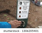 push button to cross the street | Shutterstock . vector #1306205401