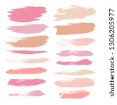 makeup strokes  beauty and... | Shutterstock .eps vector #1306205977