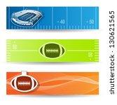 vector set of american football ... | Shutterstock .eps vector #130621565