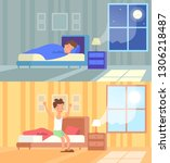 vector illustration of man... | Shutterstock .eps vector #1306218487