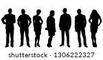 vector isolated  silhouette of... | Shutterstock .eps vector #1306222327