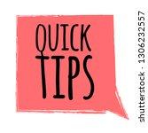 quick tips badge  helpful... | Shutterstock .eps vector #1306232557