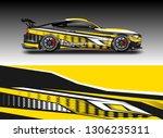 wrap car racing designs vector .... | Shutterstock .eps vector #1306235311