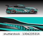 wrap car racing designs vector ....   Shutterstock .eps vector #1306235314