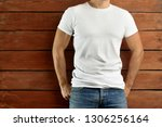 mockup clothes. athletic fit... | Shutterstock . vector #1306256164