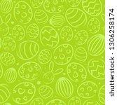 seamless easter background...   Shutterstock .eps vector #1306258174