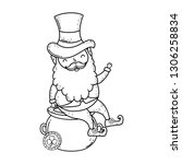 st patricks day leprechaun with ... | Shutterstock .eps vector #1306258834