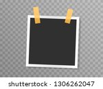 square photo collage frame... | Shutterstock .eps vector #1306262047
