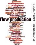 flow production word cloud... | Shutterstock .eps vector #1306270444