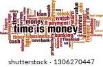 time is money word cloud... | Shutterstock .eps vector #1306270447
