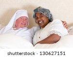 mature couple in vintage... | Shutterstock . vector #130627151