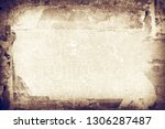 old scratched paper texture ... | Shutterstock . vector #1306287487