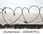 Barbed Wire Stretched Over An...