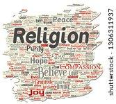 vector conceptual religion  god ...   Shutterstock .eps vector #1306311937
