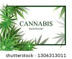 cannabis or marijuana... | Shutterstock .eps vector #1306313011