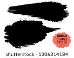 vector set of hand drawn brush... | Shutterstock .eps vector #1306314184