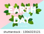 ecology theme happy earth day... | Shutterstock .eps vector #1306323121