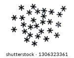 small decorative snowflakes... | Shutterstock . vector #1306323361
