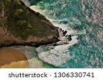 the waves that hit the land... | Shutterstock . vector #1306330741