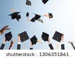 black hat of the graduates...   Shutterstock . vector #1306351861