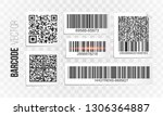 barcode vector set. qr code...   Shutterstock .eps vector #1306364887
