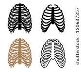 vector human rib cage symbols | Shutterstock .eps vector #130637357
