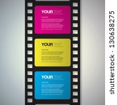 film strip design text box... | Shutterstock .eps vector #130638275