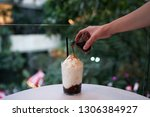 snow cold brew   shaved iced... | Shutterstock . vector #1306384927