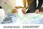 business people working... | Shutterstock . vector #1306405987