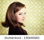 art portrait of young smiling... | Shutterstock . vector #130640681