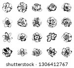 flowers set. collection of... | Shutterstock .eps vector #1306412767