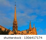 details of the ornate gothic... | Shutterstock . vector #1306417174