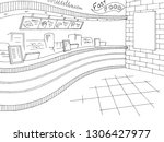 fast food interior graphic... | Shutterstock .eps vector #1306427977