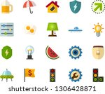 color flat icon set  ...   Shutterstock .eps vector #1306428871