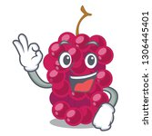 okay mulberry in the character... | Shutterstock .eps vector #1306445401