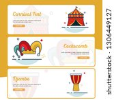 carnival banner collection with ... | Shutterstock .eps vector #1306449127