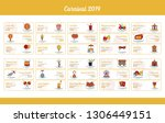 carnival banner collection with ... | Shutterstock .eps vector #1306449151