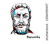 parmenides engraved vector...   Shutterstock .eps vector #1306450447